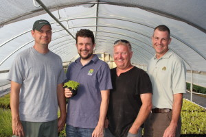 "Key members of the Little Prince of Oregon team include (left–right) grower Mike Hicks, owner  Keith ""Ketch"" de Kanter, business department manager Mark Leichty and sales manager Ryan Seely."